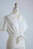 Vintage buttoned down blouse  embroidery - Large