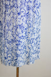 Vintage blue midi skirt -Medium