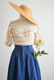 Vintage denim skirt high waisted-s/M