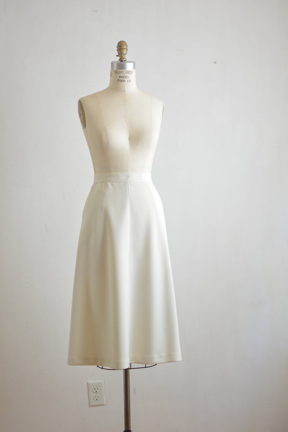 Vintage white midi skirt -small