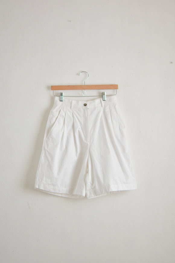 Vintage white cotton shorts-Xs