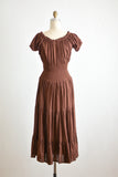 Vintage brown gauze dress -S/M