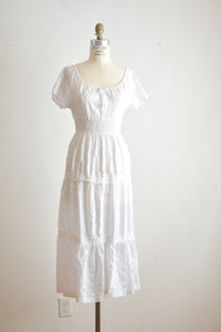 Vintage white midi dress-Small