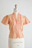 Vintage buttoned down blouse -Small