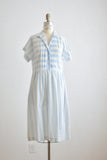 Vintage striped blue dress -S/M