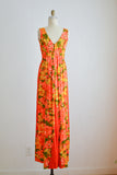 Vintage Hawaiian dress floral summer -Medium