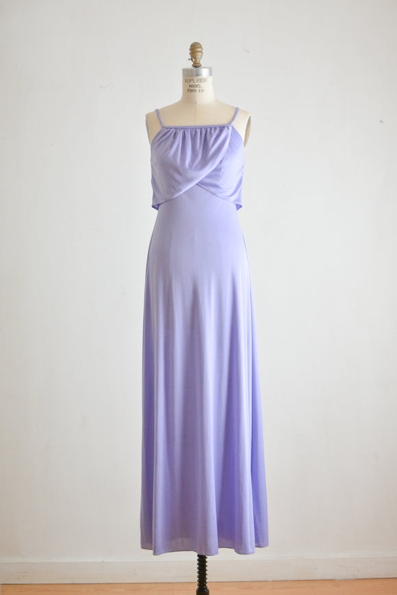Vintage purple 1970's dress-Small