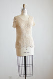 vintage Knit two piece cream -Small