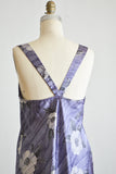 Vintage purple satin blouse slip -small
