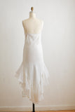 Vintage white maxi ruffled dress -Small