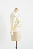 Vintage white mohair 1950's sweater- Medium