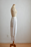 Vintage white fringe skirt -Medium