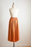 Vintage copper skirt- M/L