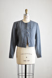 Vintage gray Pendleton crop jacket -Medium