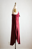Vintage Burgundy slip dress - small