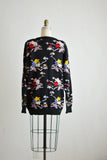 Vintage floral clouds sweater  -M/L