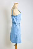 vintage Dreamy denim  overall dress- Small