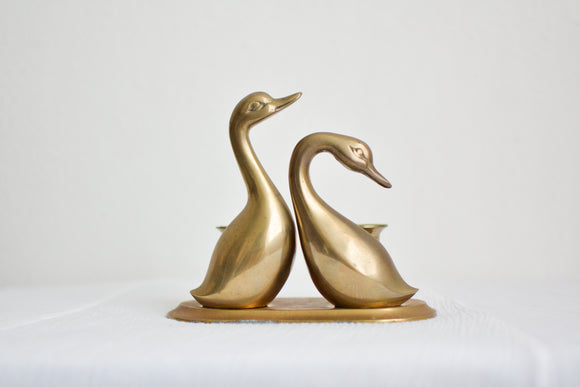 Vintage duck candlestick