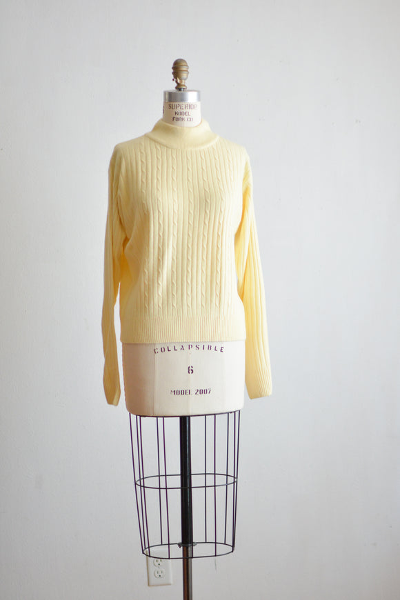 Vintage sweater yellow - Small