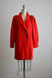Vintage red coat - Medium