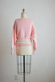 vintage pink knit sweater- Medium
