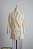 Vintage cream jacket- Medium