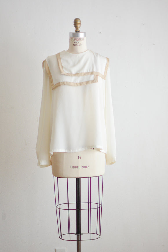 Vintage cream blouse -S/M