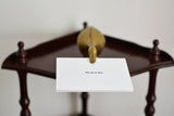 Vintage brass duck- note holder