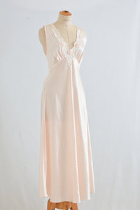 Vintage blush slip dress maxi - S