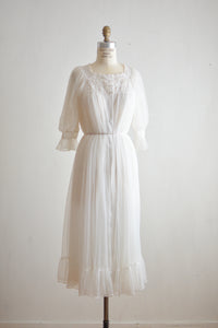 Vintage white slip dress -S/Medium