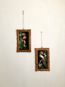 Vintage feather frames 9 X 6