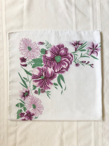 White scarf purple floral