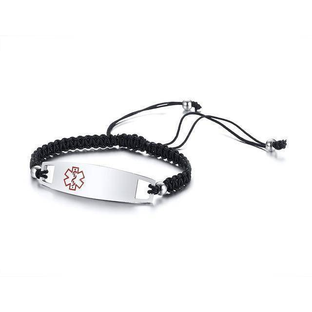 Medical Alert ID Bracelet - Nylon Rope Braided Band - Free Engraving -  Trendy Medical Alert