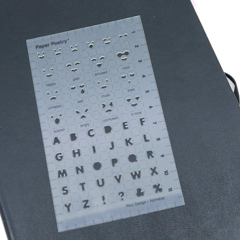 The Paper Poetry emotions stencil is the easy way to keep track of your mood
