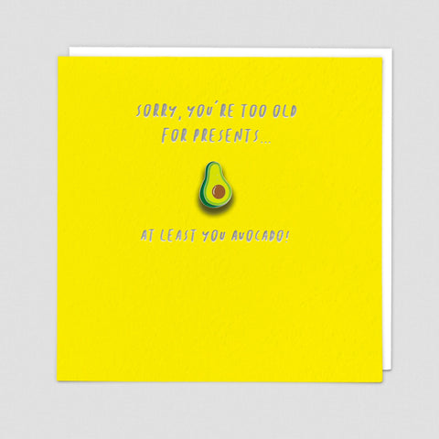 Avocado - Pin Badge Card