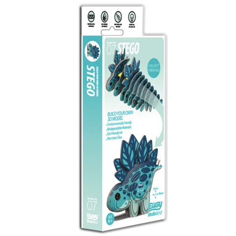 Easy to post, easy to make - 3D Stegosaurus model