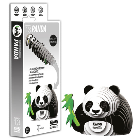 Super cute build your own 3D panda
