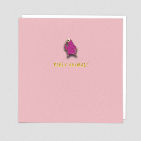 Sloth - Pin Badge Card