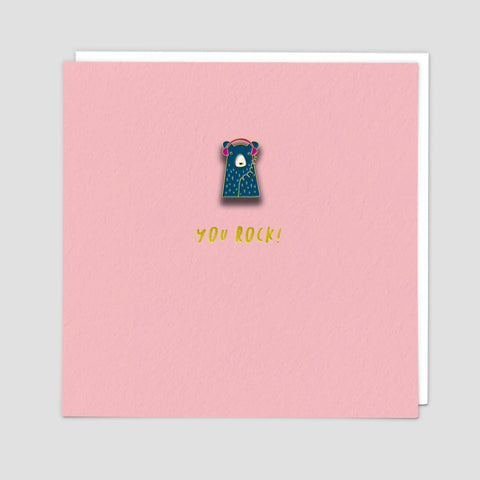 Bear - Pin Badge Card