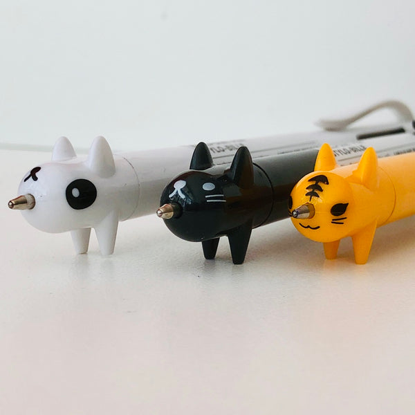 Our popular black cat multicolour pen