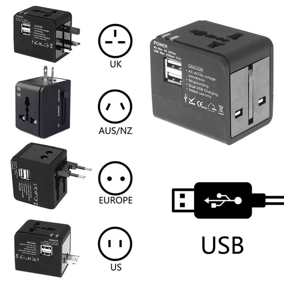 Universal Travel Adapter Power Adapter Electric Plugs Sockets Adapter Converter USB Travel Socket Plug Power Charger Converter
