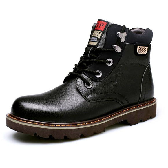 Men's Shoes New Style Patent Leather Outdoors / Casual Fashion Comfort Black/Brown Warm Winter Martin Boots