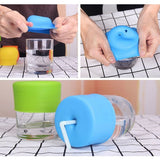 Pure Color Suction Cup Cover Kid Silicone Sucker Bottle Non-toxic Leakproof
