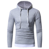 Men Slim Fit Double Zipper Hooded Sweatshirt Coat Casual Drawstring Outwear