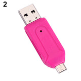 2 in 1 USB OTG Card Reader Universal Micro USB TF SD Card Reader for PC Phone