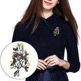 Fashion Women Tree Branch Faux Pearl Decor Brooch Pin Jewelry Scarf Accessory