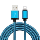 Nylon Braid USB  IPhone Cable IOS Braided Data Sync Fast Charger Cable For iPhone