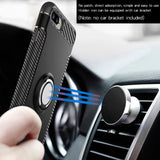 Case for iPhone X 10 7 6 6s Plus 5 5S SE Car Holder Stand Magnetic Suction Bracket Case Ring Grip 360 Degree Rotating