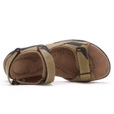 Leather Sandals Men's Summer Genuine Casual Outdoor Beach Slippers
