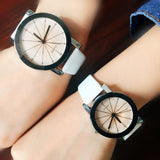 Fashion Casual Men Women Leather Band Quartz Analog Wrist Watches for Lover